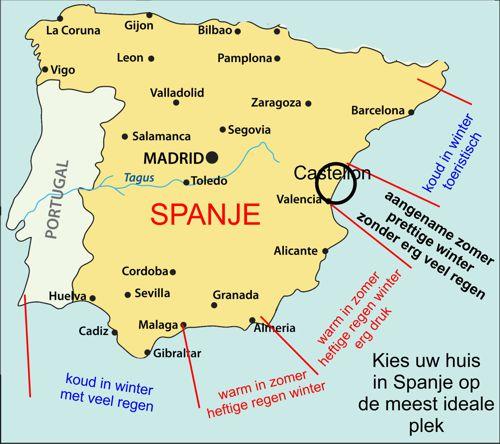 Castellon-kaart-weer